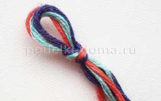 Браслеты из ниток: описание и фото