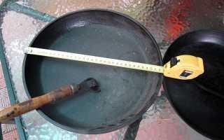 Все о диаметрах сковород