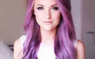 Лиловый цвет волос: оттенки и варианты окрашивания