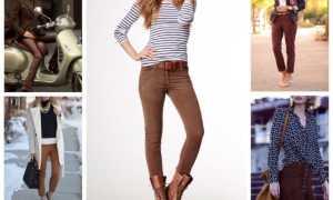Коричневые брюки: с чем носить