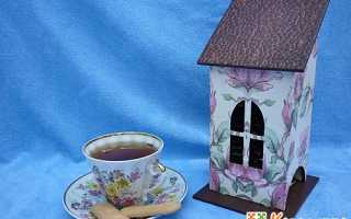 Декупаж чайного домика своими руками