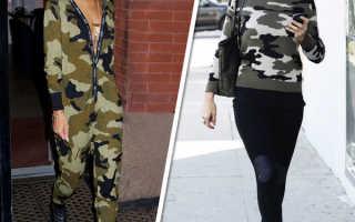 Камуфляжная толстовка: как и с чем носить, фото