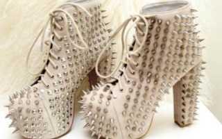 Ботильоны с шипами: с чем носить
