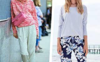 Брюки в пижамном стиле: с чем носить