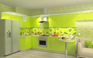 Кухни цвета лайм: плюсы и минусы, цветовые комбинации, примеры