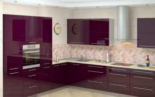 Кухни цвета баклажан: описание, фото и отзывы