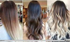 Растяжка цвета на русых волосах