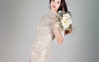 Свадебное платье, вязанное крючком – мечта невест-рукодельниц