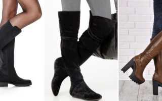 Женские сапоги без каблука: описание с фото, модели