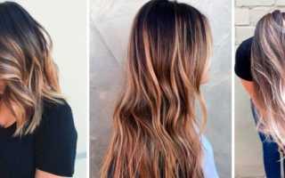 Сложное окрашивание на темные волосы