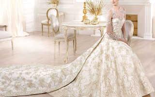 Свадебное платье со шлейфом: фото