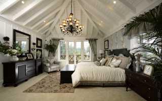 Правила оформления спальни в английском стиле
