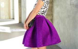 Как сшить юбки солнце и полусолнце со складками, с чем их носить?