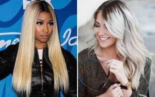 Блонд с темными корнями: особенности и способы окрашивания