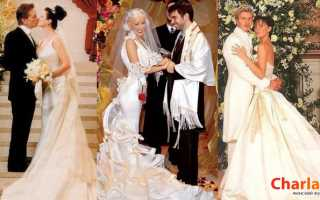 Свадебные платья звезд: фото