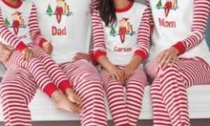 Одинаковые пижамы для всей семьи: описание с фото, модели