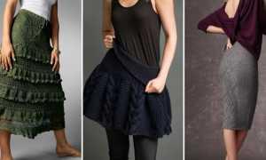 Вязаные юбки крючком: с чем носить, фото