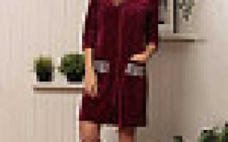 Велюровые халаты: описание и фото