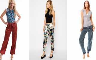 Женские брюки на резинке: с чем носить