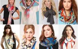 Как завязывать вязаный шарф?
