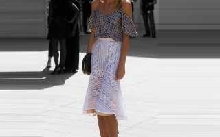 Кружевная юбка: с чем носить, фото