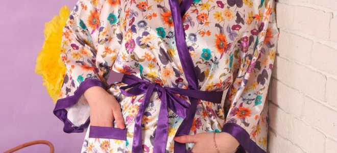 Халат кимоно: описание и фото