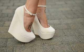 Туфли на высокой платформе: описание с фото, модели