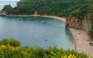 Пляж Могрен в Будве (Черногория)