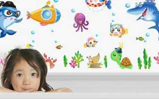Наклейки в ванную: разновидности, советы по выбору и поклейке