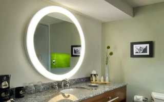Варианты подсветки для зеркала в ванной