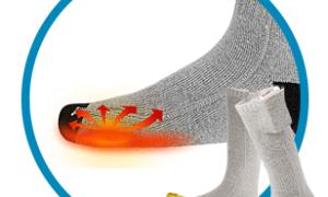 Носки с подогревом: описание с фото
