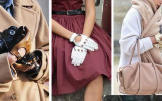 Длинные кожаные перчатки: описание с фото, модели