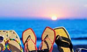Женские сланцы для пляжа: описание и фото