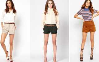 Короткие шорты: как и с чем носить, фото