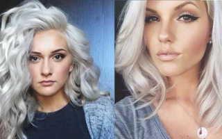 Серебристый цвет волос: популярные оттенки и особенности окрашивания