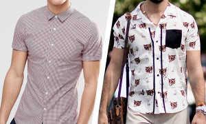 Рубашки с коротким рукавом: как и с чем носить, фото