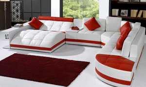 Модульные диваны в интерьере гостиной