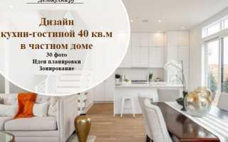 Варианты дизайна кухни-гостиной 40 кв. м