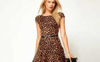 Леопардовые платья – от дерзкого до спокойного образа