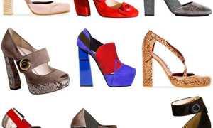 Туфли на толстом каблуке и платформе