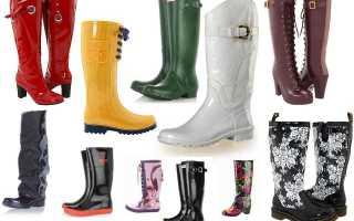 Модные резиновые сапоги: описание с фото, модели