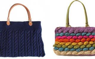 Вязаные сумки: с чем носить, фото