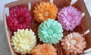Как сделать цветы из мыла своими руками?