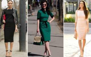 Платье-футляр: с чем носить, фото