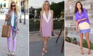 Лавандовое вечернее платье: с чем носить, фото