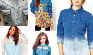 Джинсовая рубашка с юбкой: с чем носить, фото