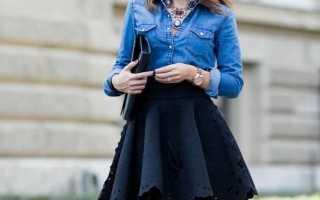Короткие черные юбки: с чем носить, фото