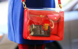 Прозрачные сумки: с чем носить, фото
