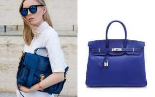 Синие сумки: с чем носить, фото
