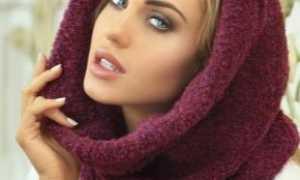 Бордовый шарф: как и с чем носить, фото